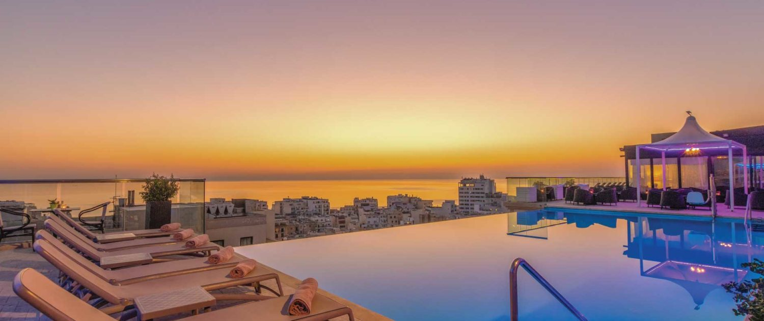 AX The Palace Rooftop pool in Sliema